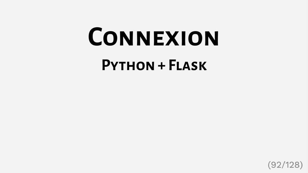 Connexion Python + Flask