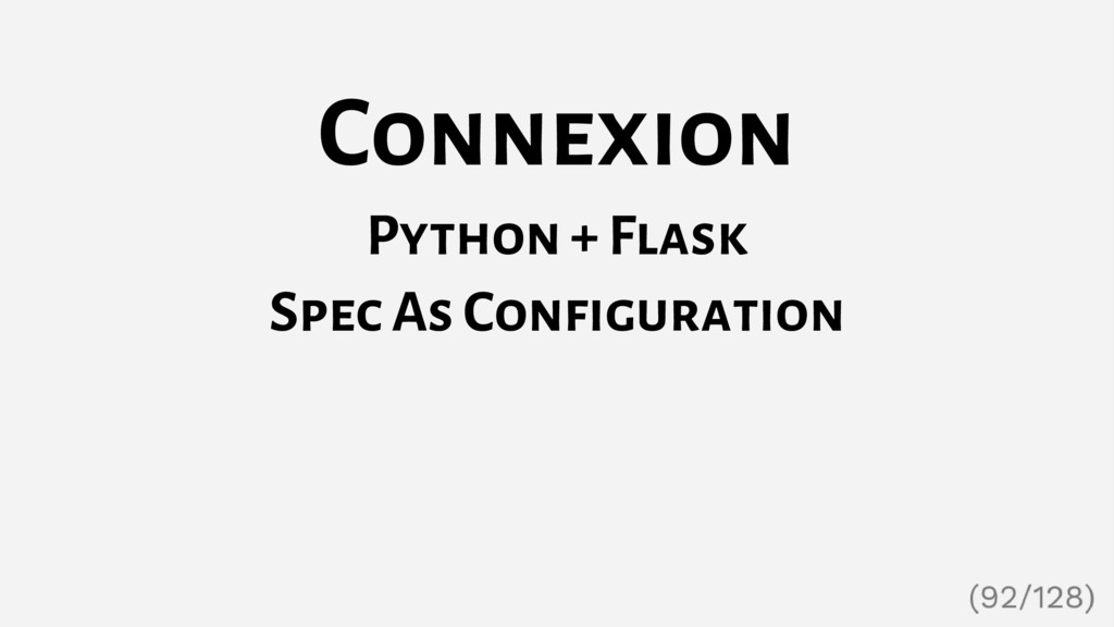 Connexion Python + Flask Spec As Configuration