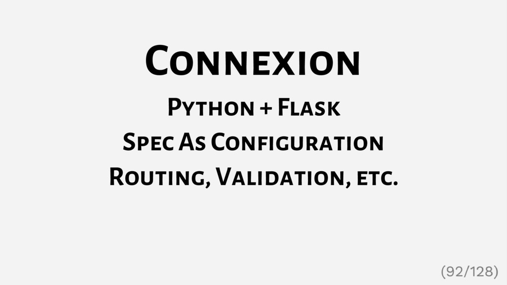 Connexion Python + Flask Spec As Configuration ...