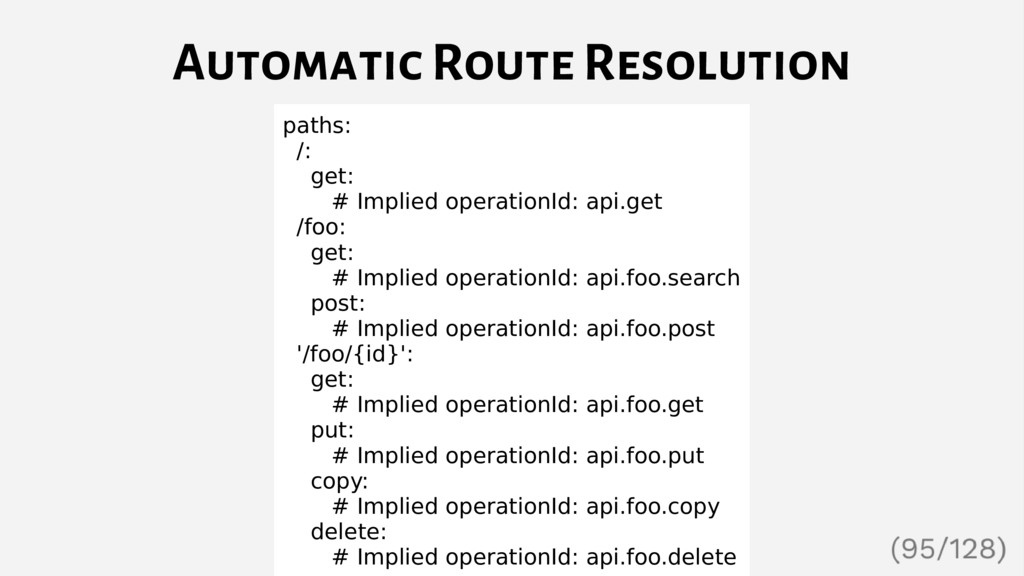 Automatic Route Resolution paths: /: get: # Imp...