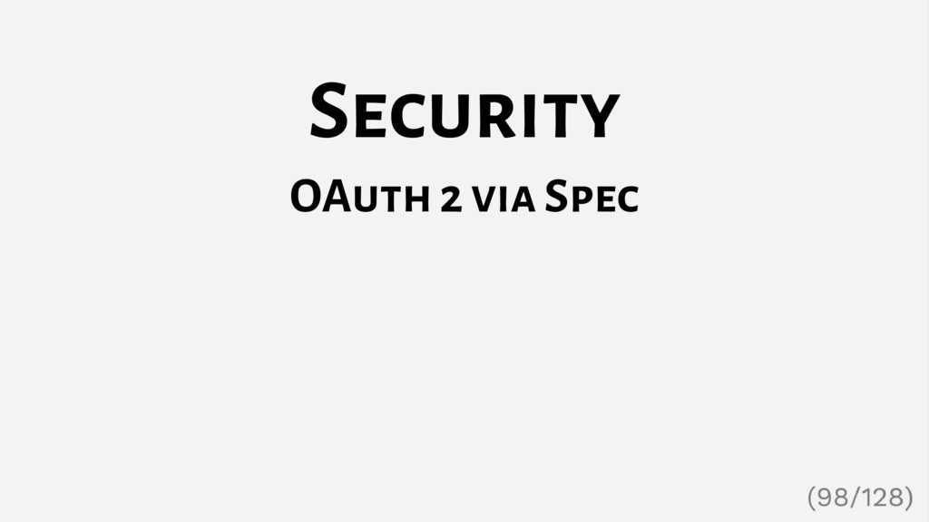 Security OAuth 2 via Spec