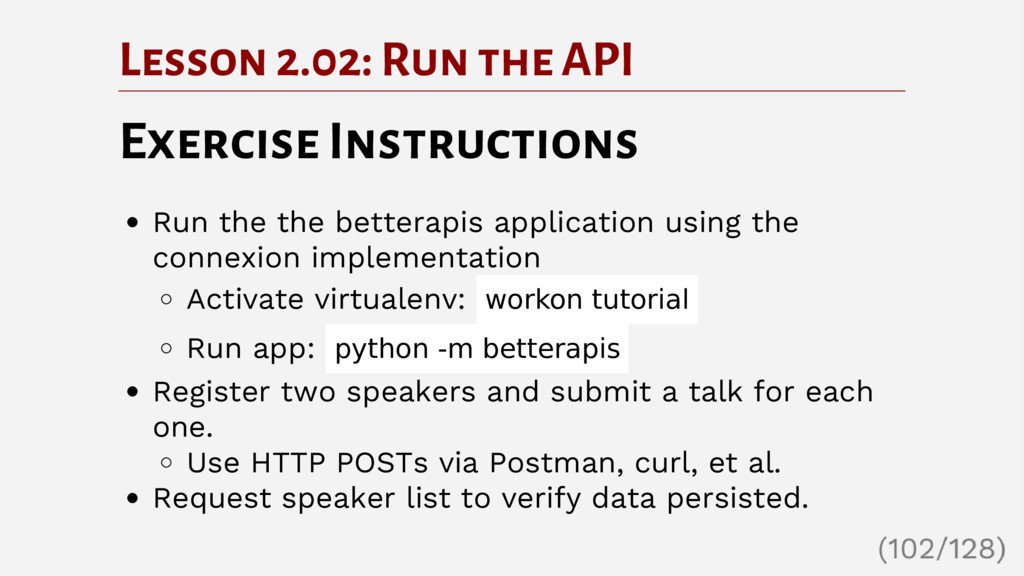 Lesson 2.02: Run the API Exercise Instructions ...
