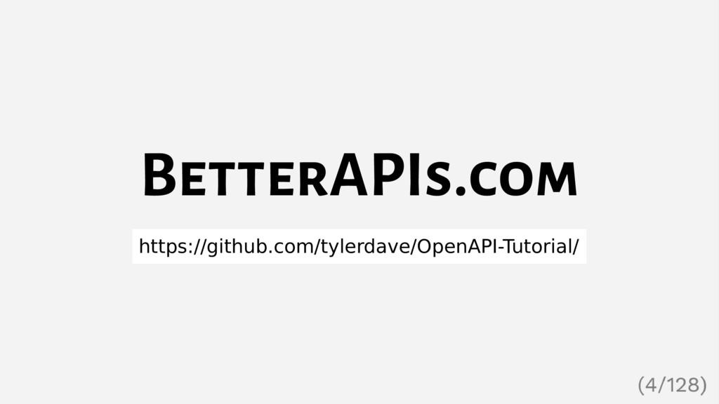 BetterAPIs.com https://github.com/tylerdave/Ope...