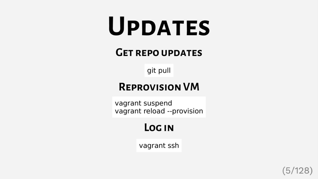 Updates Get repo updates git pull Reprovision V...