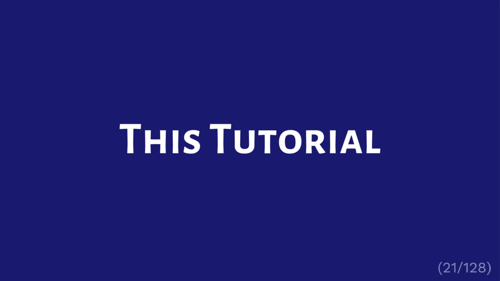 This Tutorial