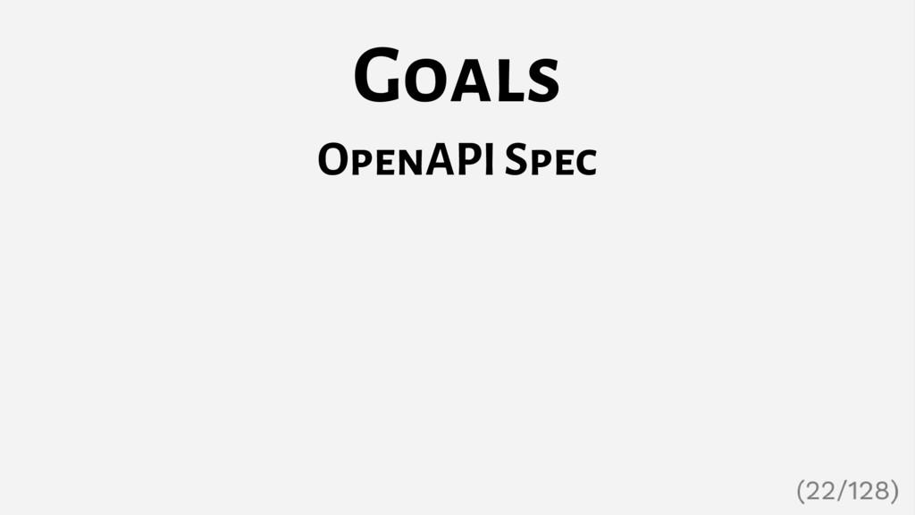 Goals OpenAPI Spec