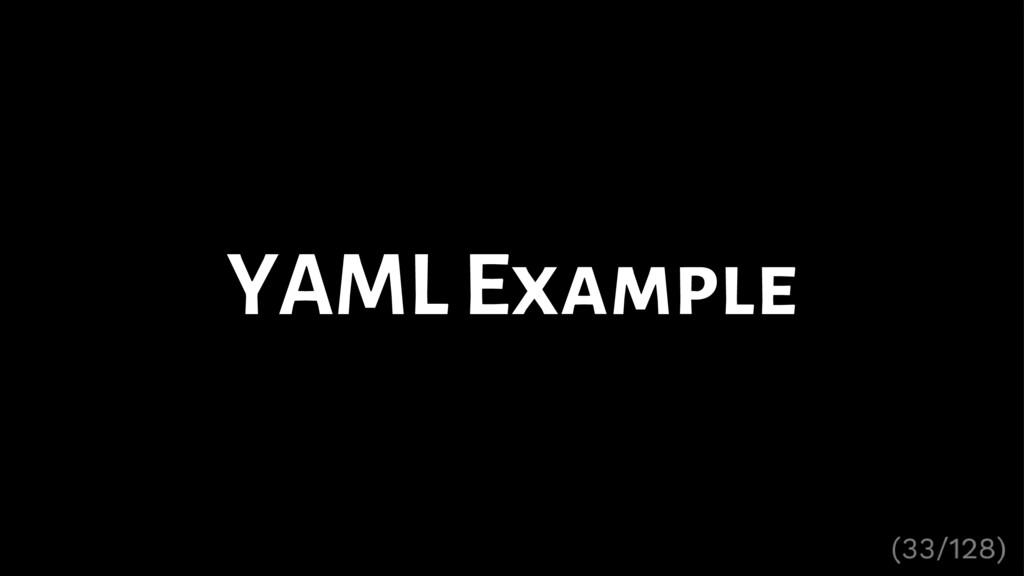 YAML Example