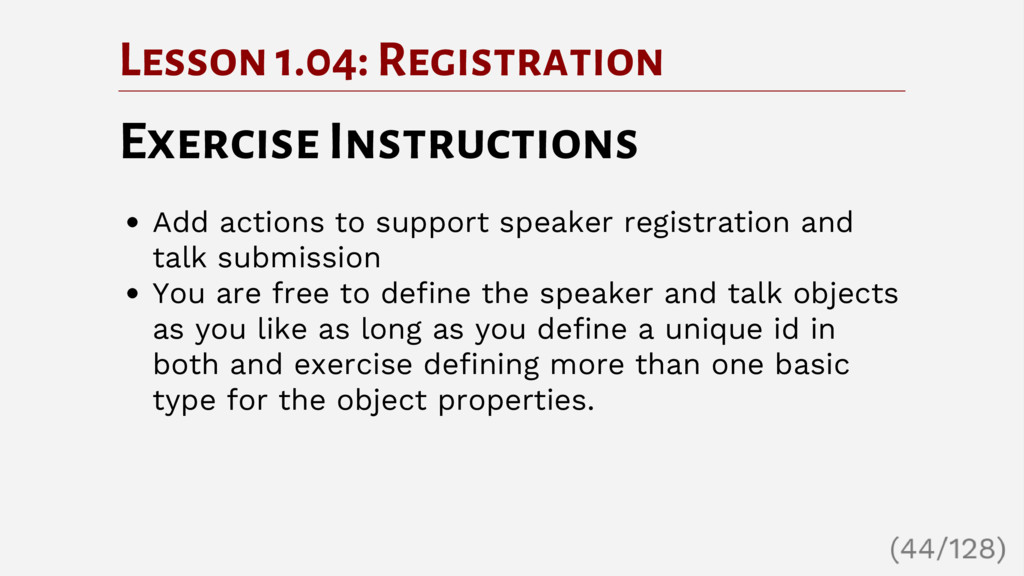 Lesson 1.04: Registration Exercise Instructions...