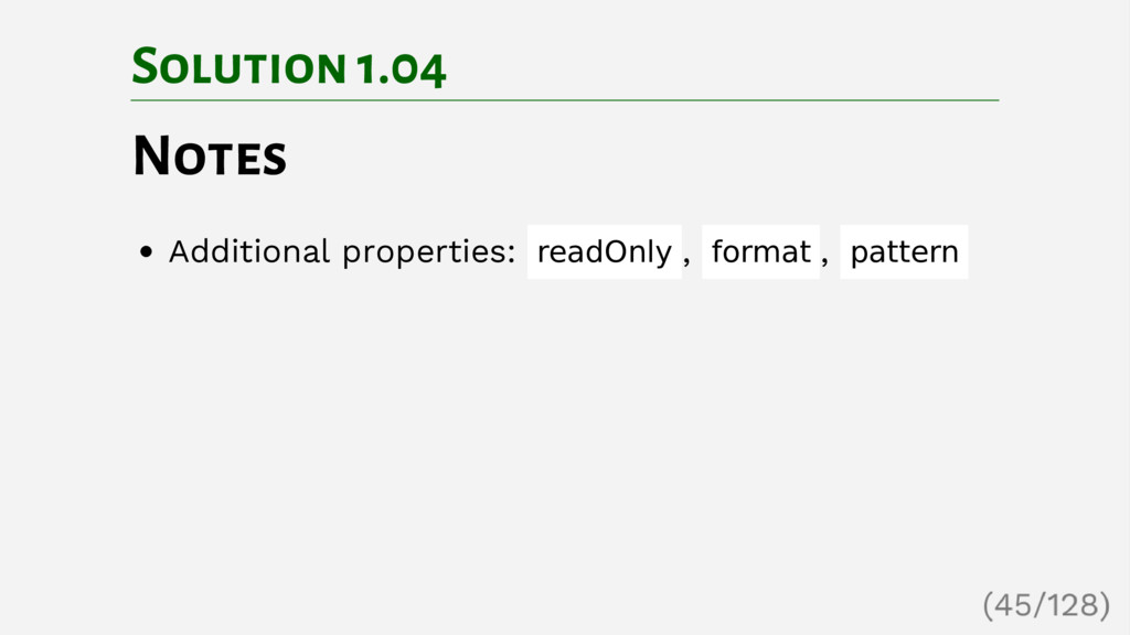 Solution 1.04 Notes Additional properties: read...