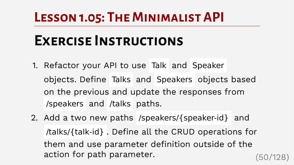 Lesson 1.05: The Minimalist API Exercise Instru...