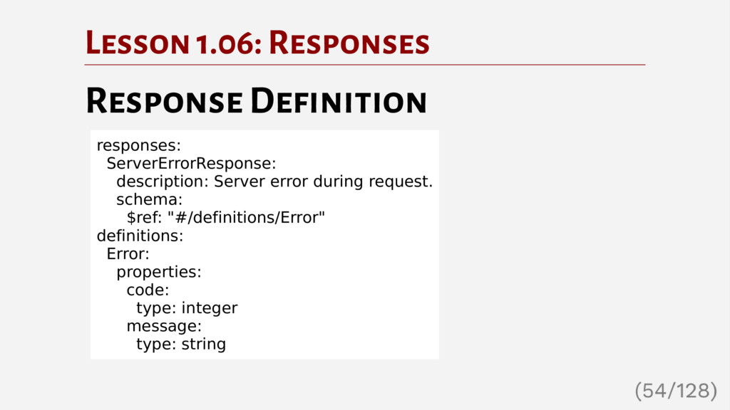 Lesson 1.06: Responses Response Definition resp...