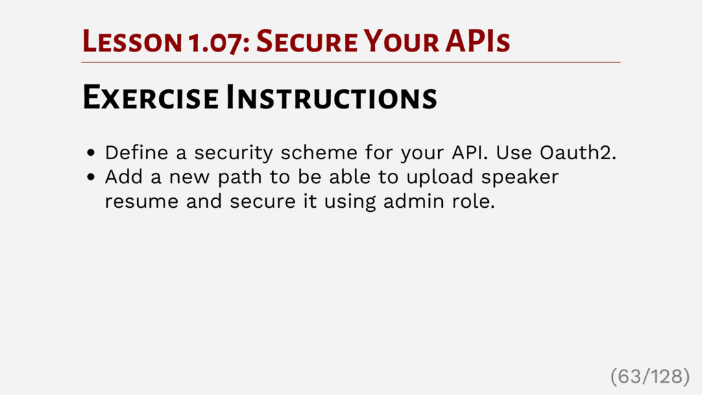 Lesson 1.07: Secure Your APIs Exercise Instruct...