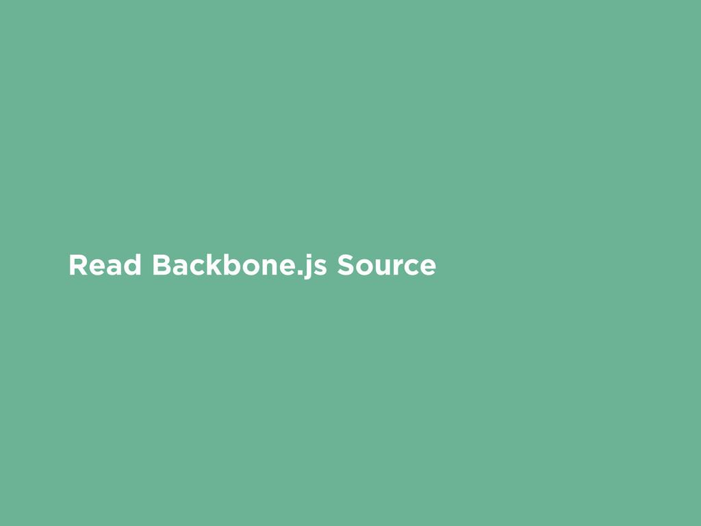 Read Backbone.js Source