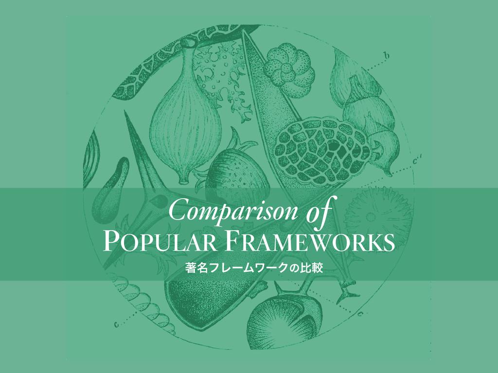 POPULAR FRAMEWORKS Comparison of ஶ໊ϑϨʔϜϫʔΫͷൺֱ
