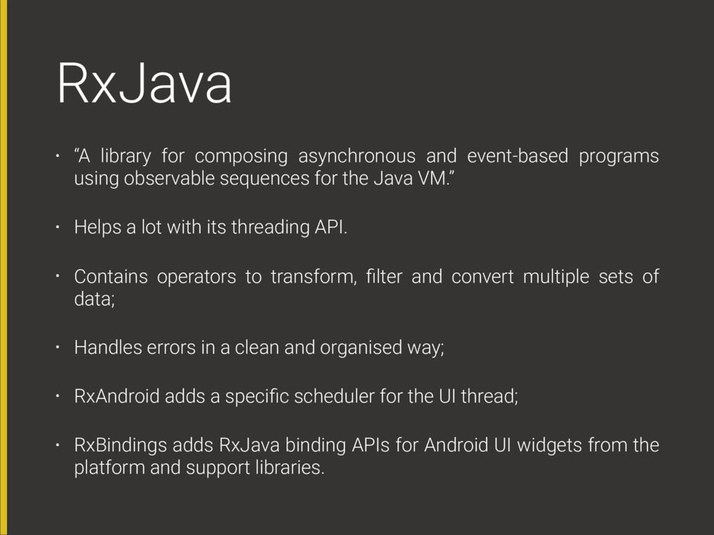 "RxJava • ""A library for composing asynchronous ..."