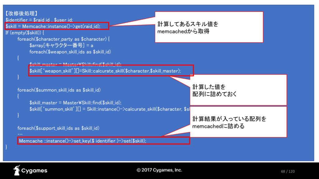 68 / 120 【改修後処理】 $identifier = $raid_id . $user...