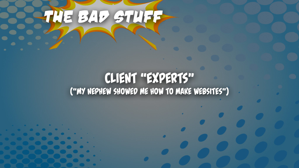 """The Bad Stuff Client """"Experts"""" (""""My nephew Show..."""