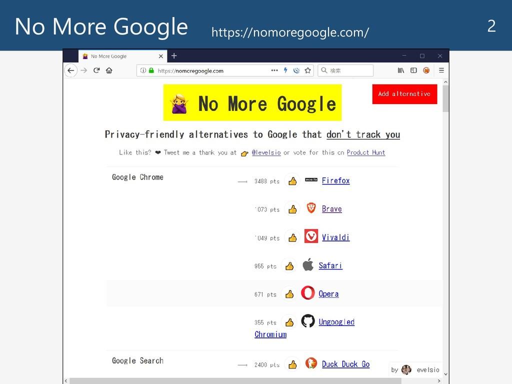 No More Google 2 https://nomoregoogle.com/