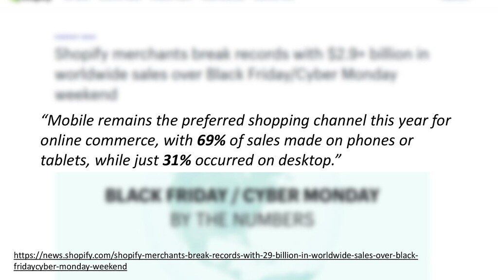 """Mobile remains the preferred shopping channel ..."