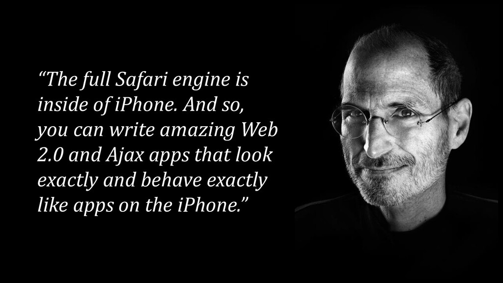 """The full Safari engine is inside of iPhone. An..."