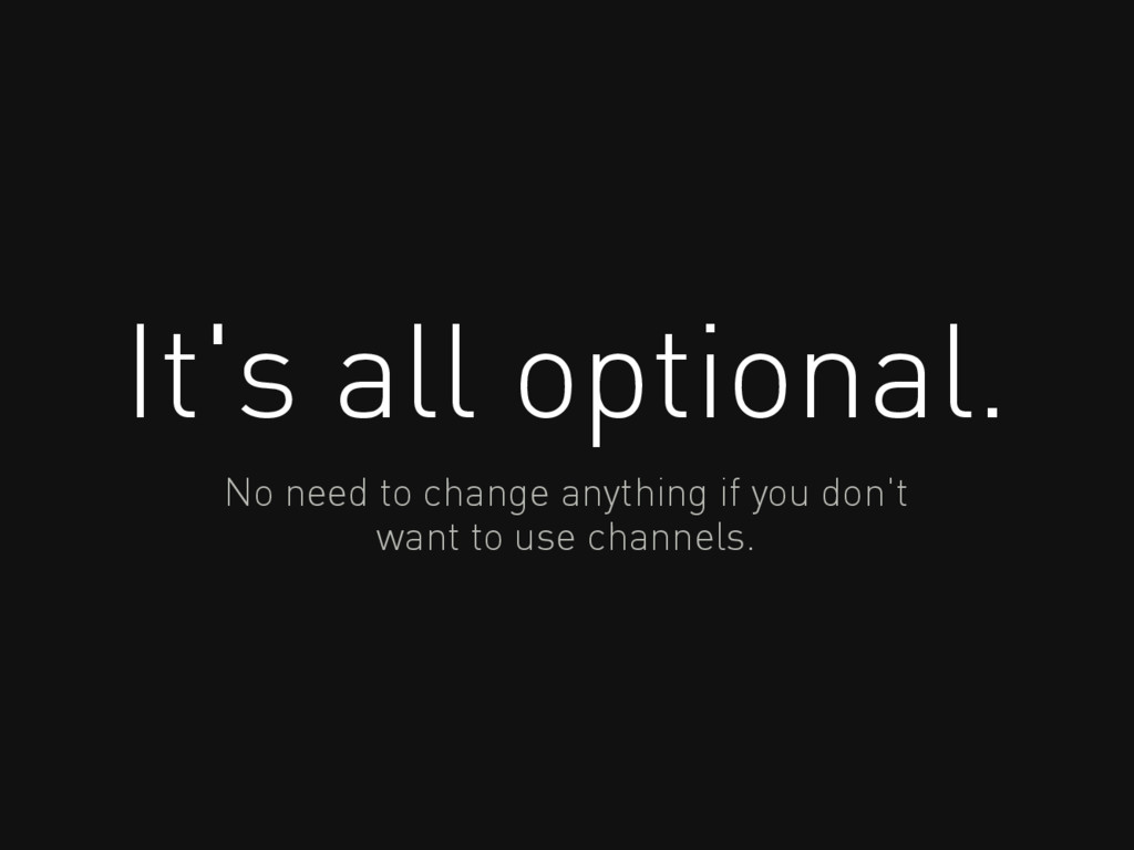 It's all optional. No need to change anything i...