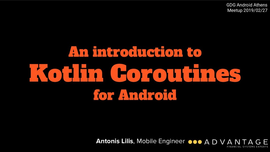 An introduction to Kotlin Coroutines for Androi...