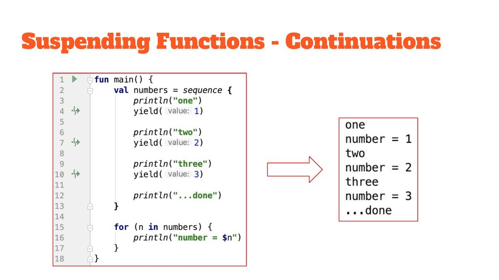 Suspending Functions - Continuations