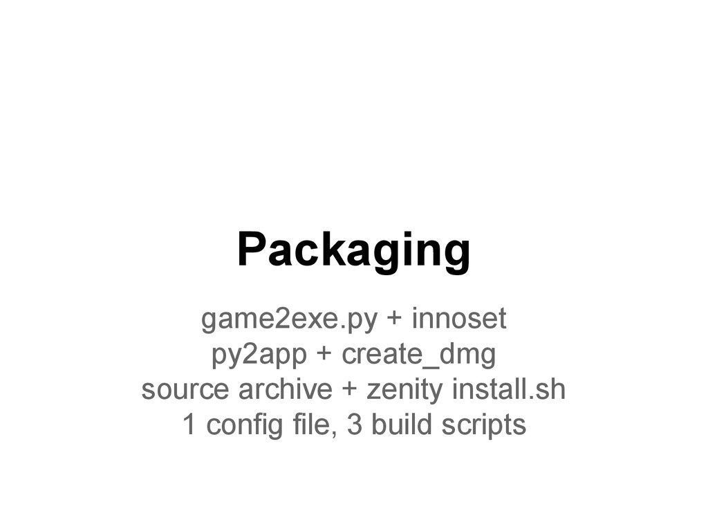 Packaging game2exe.py + innoset py2app + create...