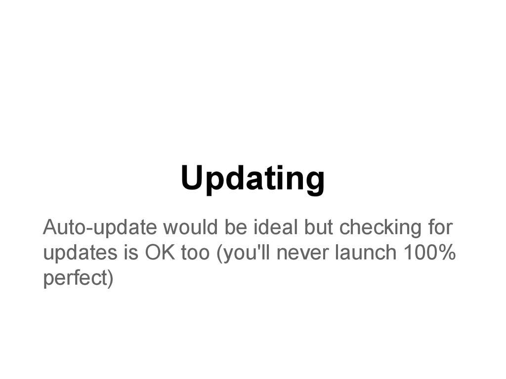 Updating Auto-update would be ideal but checkin...