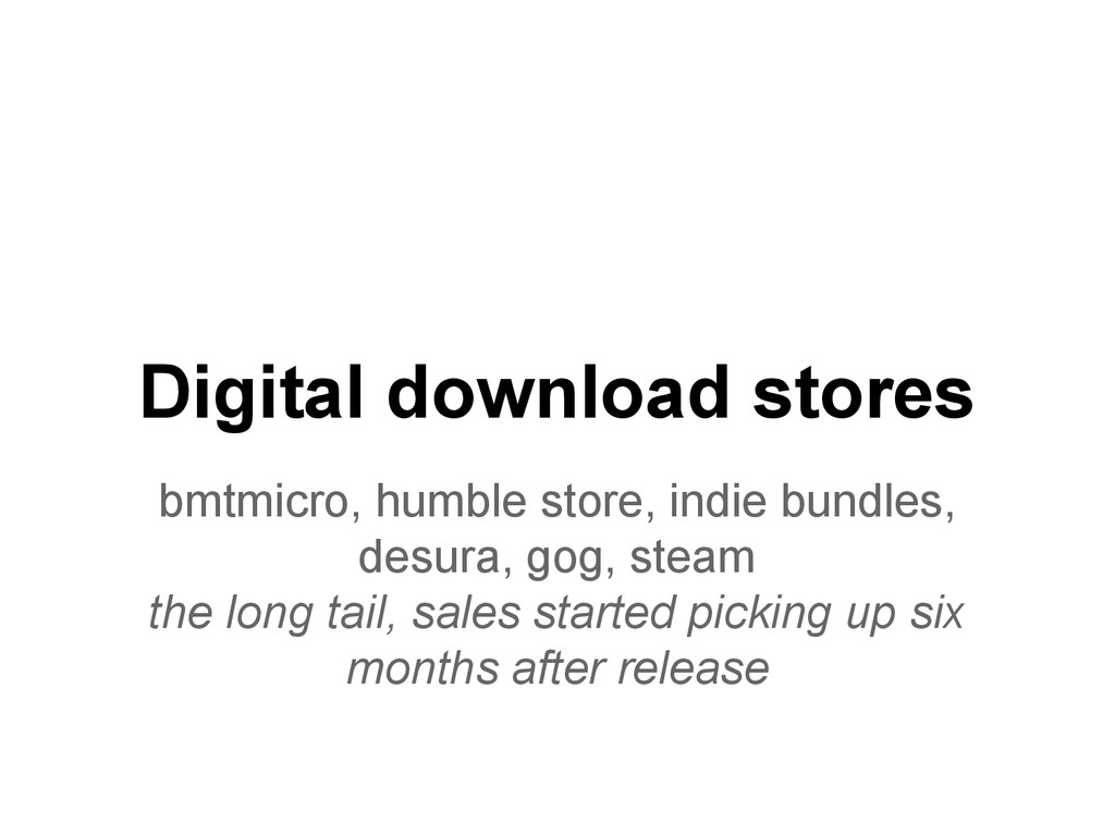 Digital download stores bmtmicro, humble store,...
