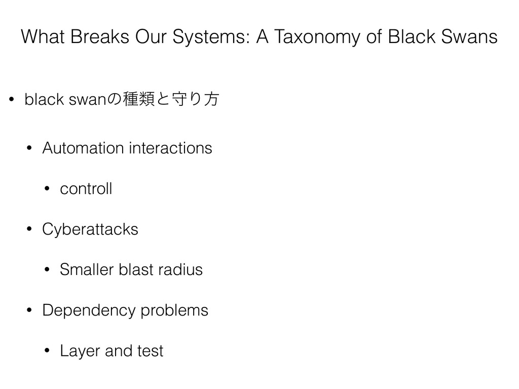 What Breaks Our Systems: A Taxonomy of Black Sw...