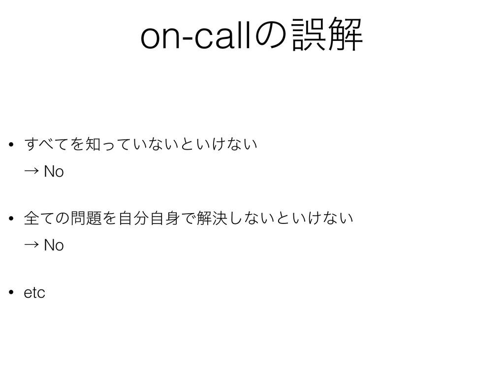 on-callͷޡղ • ͯ͢Λ͍ͬͯͳ͍ͱ͍͚ͳ͍ ˠ No • શͯͷΛࣗࣗ...