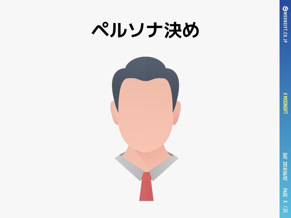 PAGE # MOONGIFT X / 35 DAY 2018/06/07 ペルソナ決め