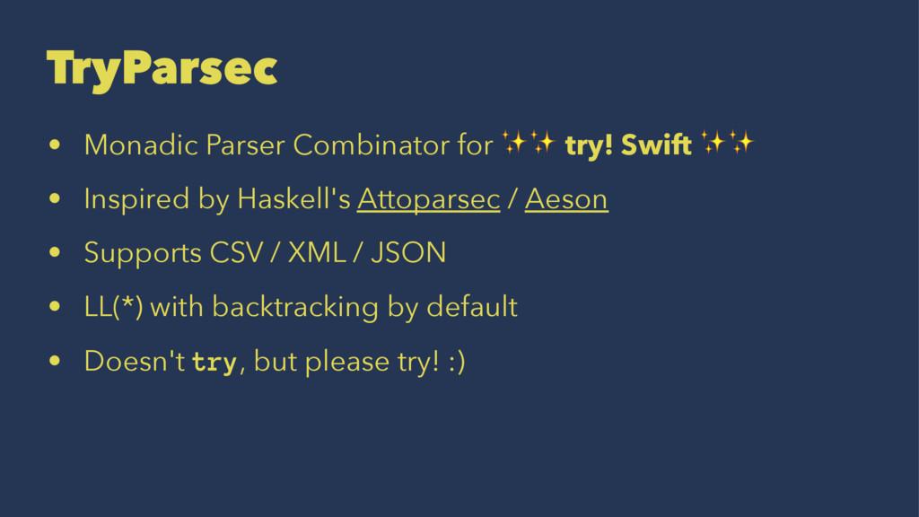 TryParsec • Monadic Parser Combinator for ✨✨ tr...
