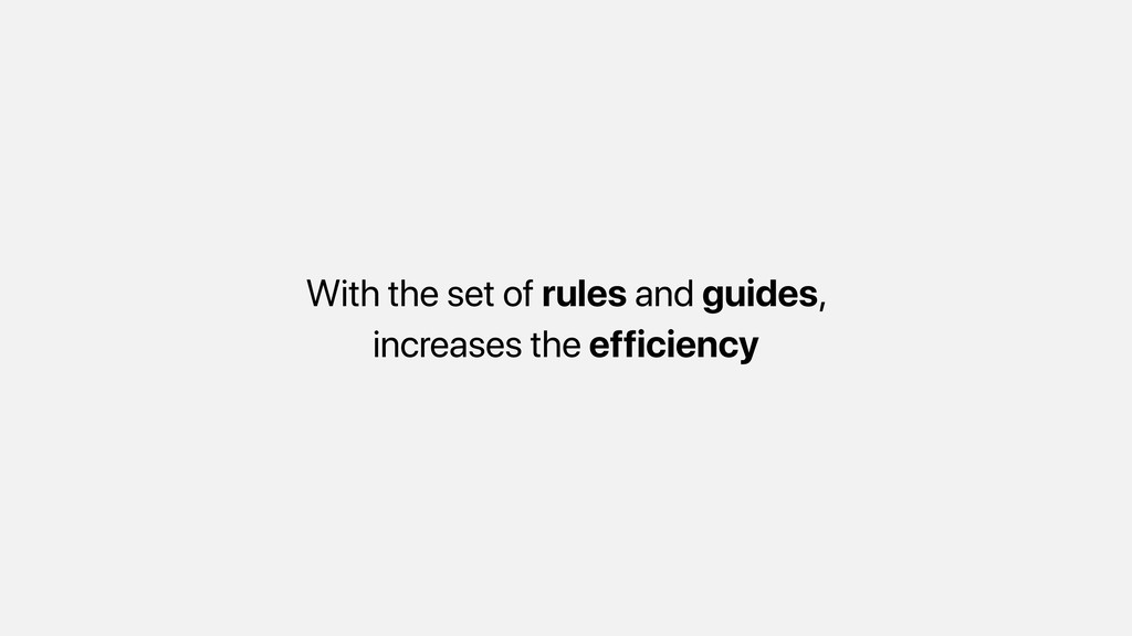 With the set of rules and guides, increases the...