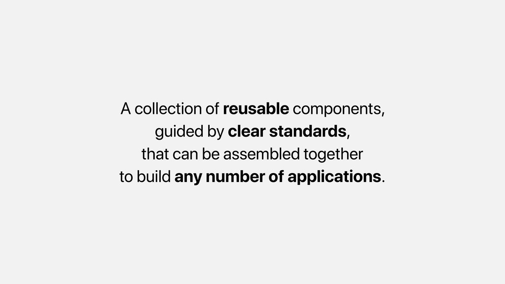 A collection of reusable components, guided by ...