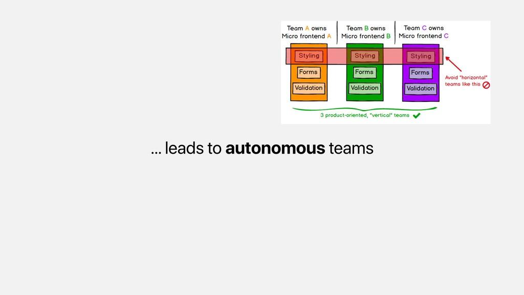 … leads to autonomous teams