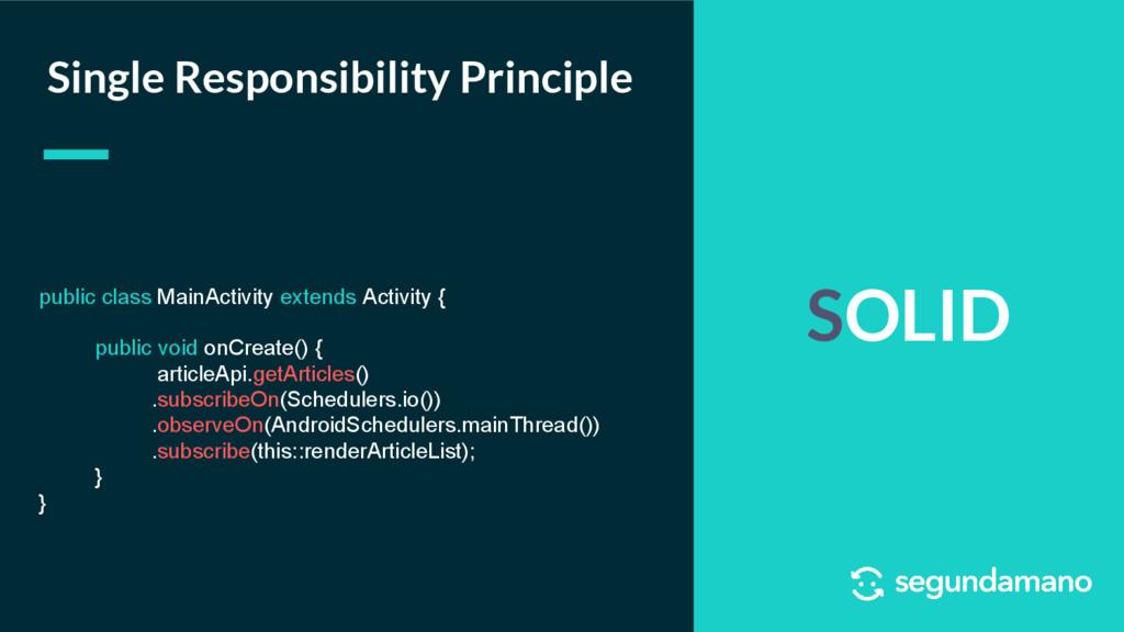 SOLID Single Responsibility Principle public cl...