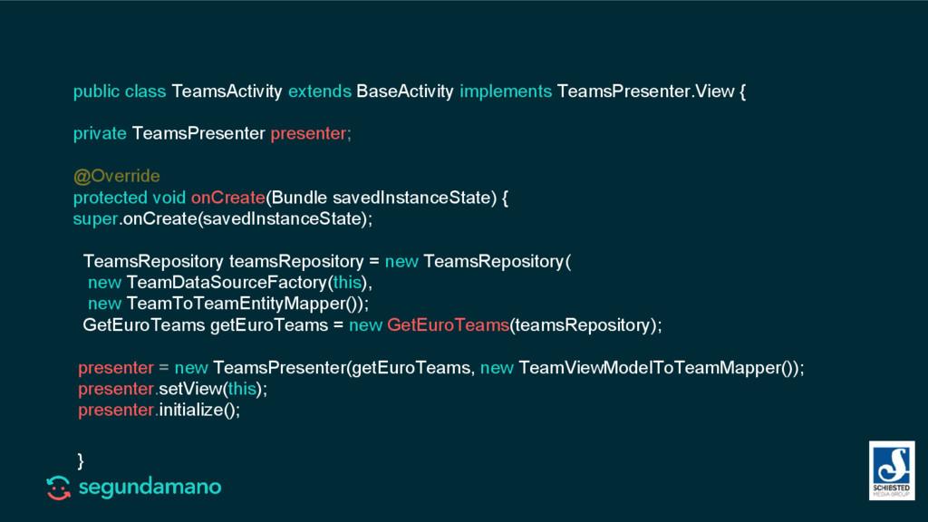 public class TeamsActivity extends BaseActivity...