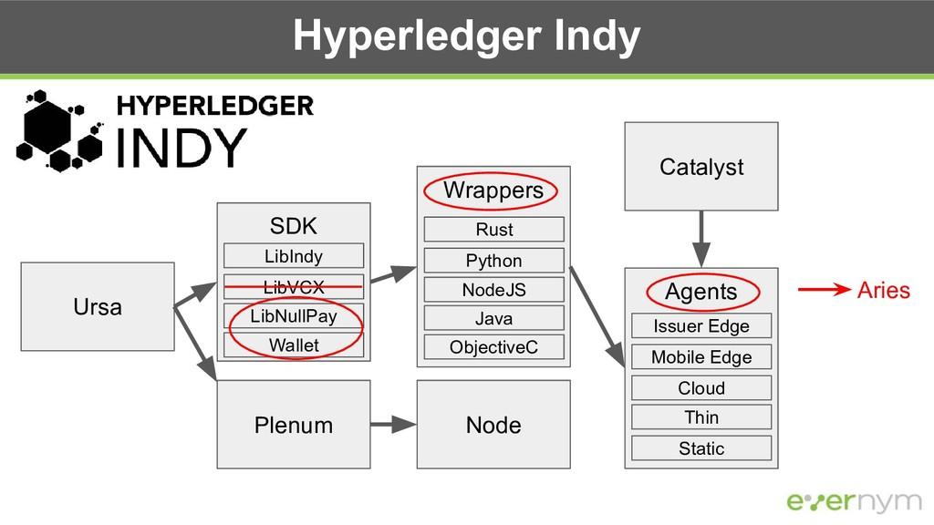Hyperledger Indy Catalyst Plenum Node SDK Agent...