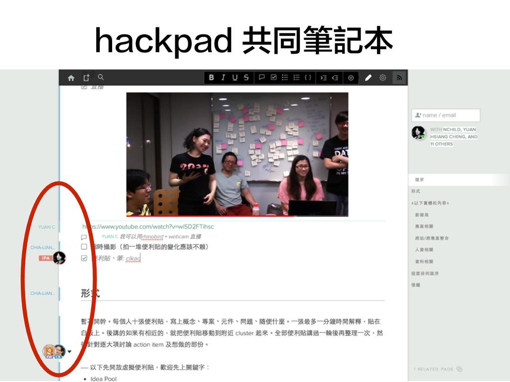hackpad 共同筆記本