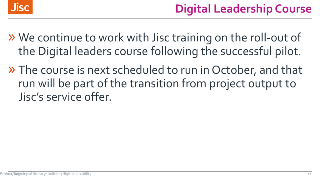 Digital Leadership Course » We continue to work...