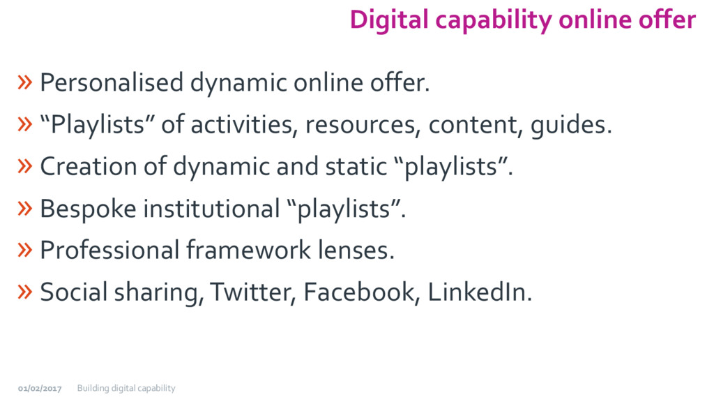 Digital capability online offer » Personalised ...