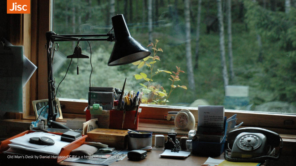 Old Man's Desk by Daniel Hansson CC BY 2.0 http...