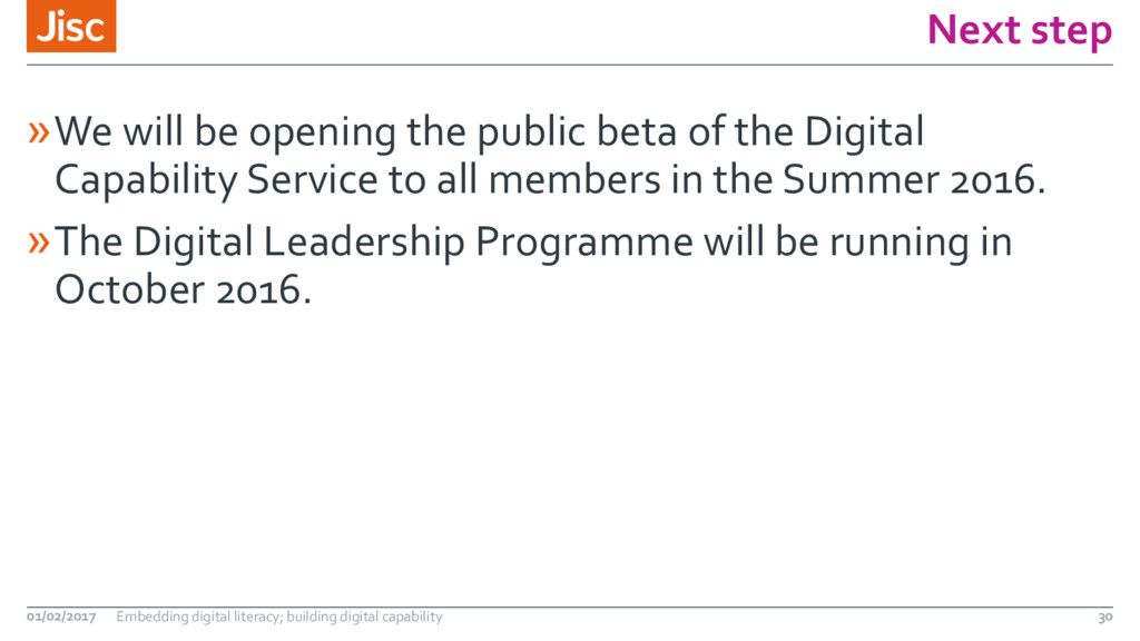 Next step »We will be opening the public beta o...