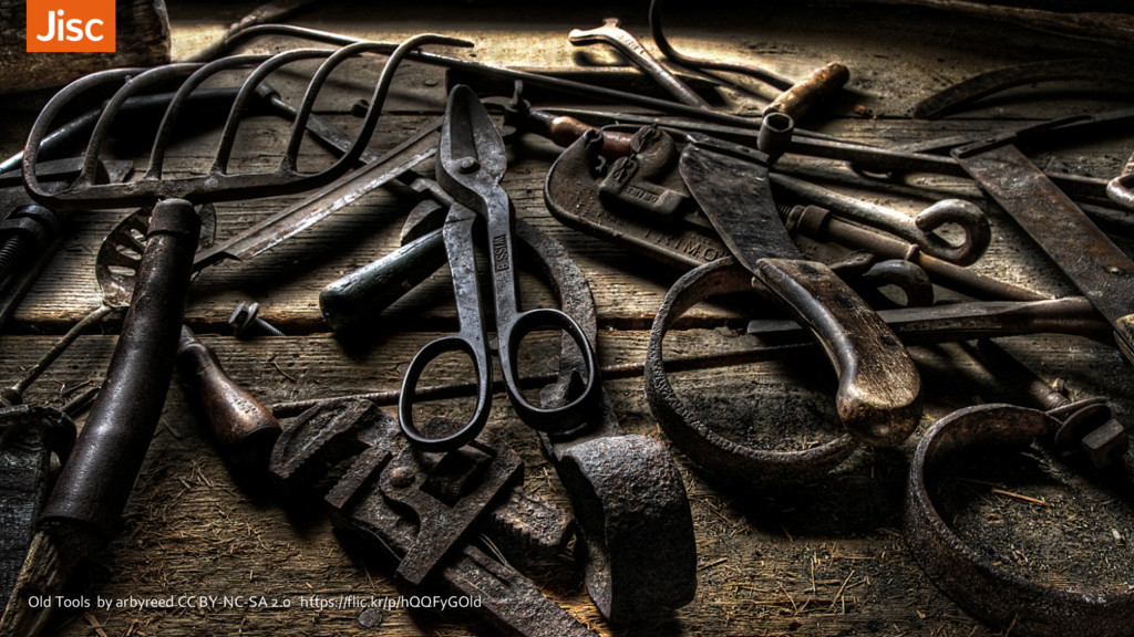 Old Tools by arbyreed CC BY-NC-SA 2.0 https://f...