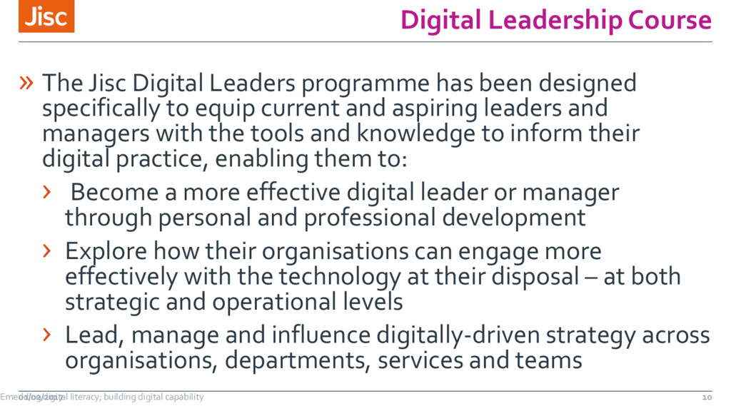 Digital Leadership Course » The Jisc Digital Le...