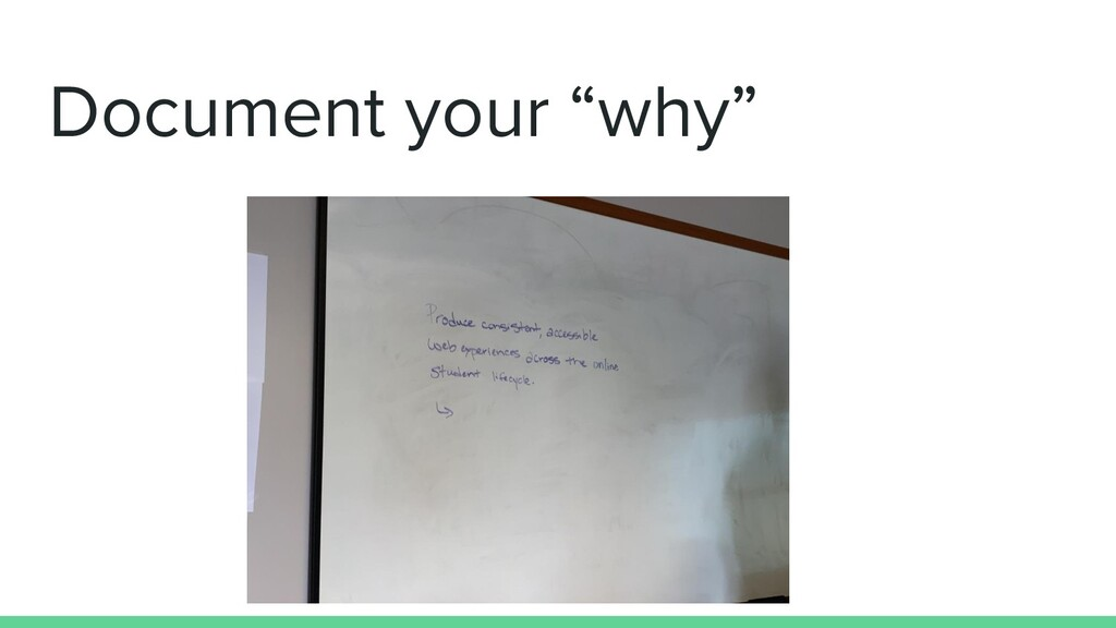"""Document your """"why"""""""