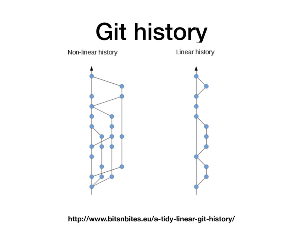 Git history http://www.bitsnbites.eu/a-tidy-lin...
