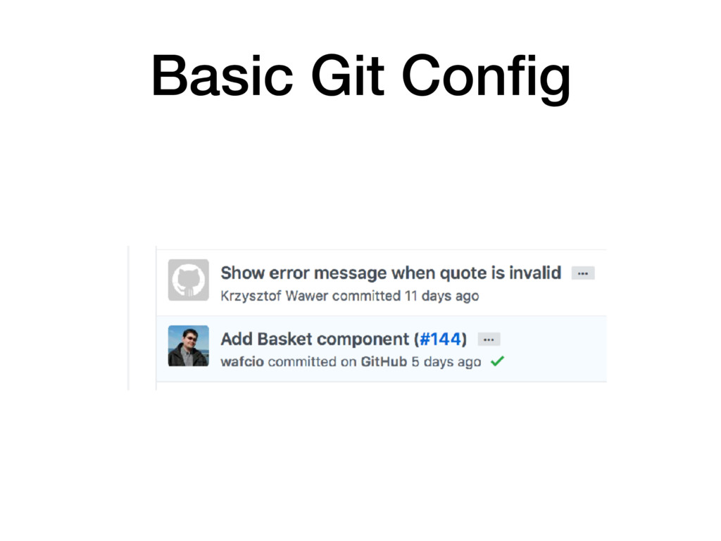 Basic Git Config